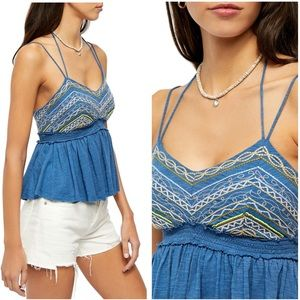 NWT Free People Well Traveled Halter Tank Top